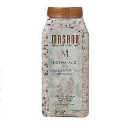 Masada Triple Therapy Mineral Herb Spa, DeTox M.D. 2 lb (170 g)