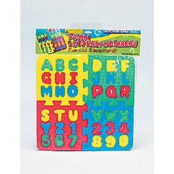 Numbers and Letters Puzzle. Foam Colorful.