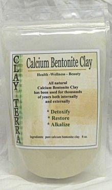 Clay Terra - Calcium Bentonite Clay - 8 oz. food grade Montmorillonite clay, green clay (Food Grade Clay compare prices)