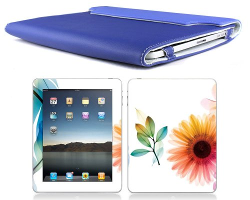 Bundle Monster Apple Ipad (1st Generation) Synthetic Leather Case Cover Jacket + Skin Sticker + Screen Guard Protector Accessories Combo Fit 3G or Wifi