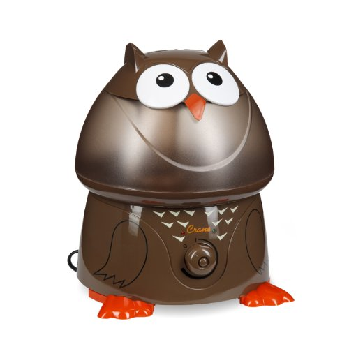 Crane Adorable Ultrasonic Cool Mist Humidifier with 2.1 Gallon Output per Day - Owl - 1