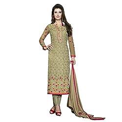 Pari Presents Beige Coloured Dress Material