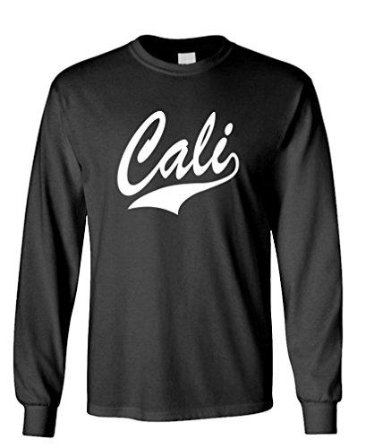 Cali - California Rap Hip Hop Swag Style Long Sleeved T-Shirt, S, Black