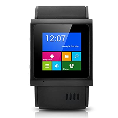 E-Ceros Smart Nano Waterproof 3G Smartwatch - MTK6577 Dual Core 1GHz CPU, 1.54 Inch Capacitive Touch Screen, IP57