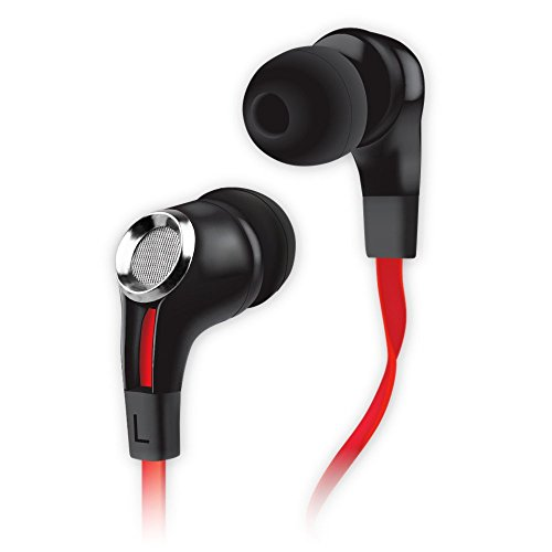 Noisehush Nx85 Stereo 3.5Mm Headset With Mic - Retail Packaging - Black/Red