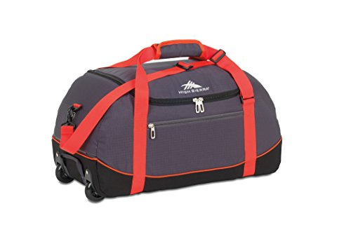 High Sierra Wheeled Duffel Bag with Cinch Sack, Mercury/Black, 30-Inch (High Sierra Wheeled Duffel compare prices)