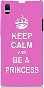 Snoogg Keep Calm Princess Case Cover For Sony Xperia Z1 L39H