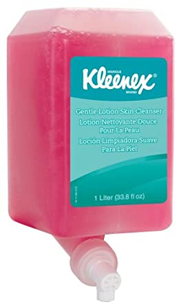 Kimberly-Clark Kleenex 91556 Floral Fragrance Gentle Lotion Skin Cleanser Cassette Skin Care System, 1000mL, Pink (Case of 6)