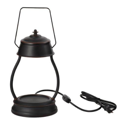 電球の熱でキャンドルを溶かして香りを楽しむ電気スタンド キャンドルウォーマーランプ (ブラウン)