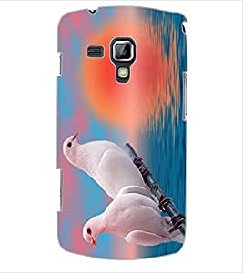 ColourCraft Love Birds Design Back Case Cover for SAMSUNG GALAXY S DUOS S7562