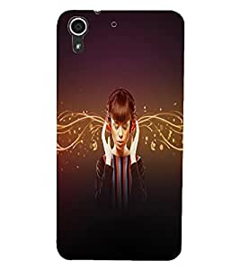HTC DESIRE 728 MUSIC GIRL Back Cover by PRINTSWAG