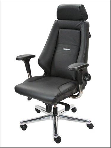 Recaro Advantage Exii Leather Office Chair - Dark Blue/Black front-825897