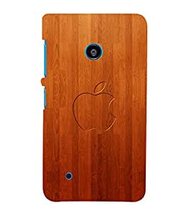 printtech Wooden Apple Back Case Cover for Nokia Lumia 530::Microsoft Lumia 530