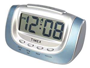 Timex Unisex Adult Bedside Desktop Alarm Clock Large Lcd With Snooze 3478t Amazon Ca