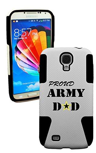 Phonetatoos (Tm) For Galaxy S4 Proud Army Dad Plastic & Silicone Case- Lifetime Warranty (Black)