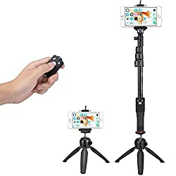 Accmor Tabletop Selfie Stick Monopod with Bluetooth Remote & Tripod Stand for iPhone and Android, iPad and Most Tablets, GoPro, Sony Action Cam and Most Sports Camera