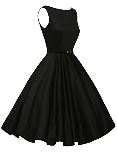 Women Vintage 50 Dress Audrey Hepburn Boat Neck Size 3X F-13