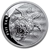 2013 1 oz Silver New Zealand Mint $2 Fiji Taku