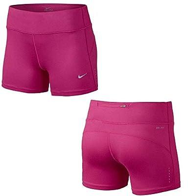 "NIKE Womens Dri Fit 5"" Epic Run Tight Fit Running Boy Shorts, Medium, 645474 612"