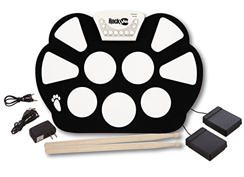 rockjam-portable-electronic-roll-up-drum-kit-with-power-supply-drum-sticks-and-foot-pedals