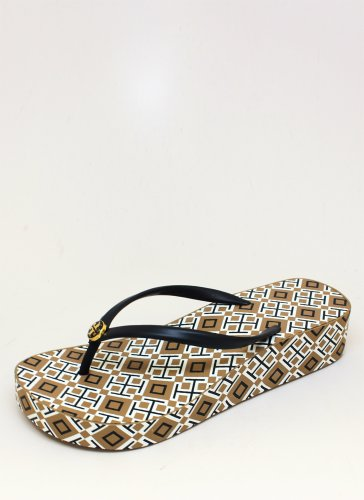 Tory Burch Thandie Wedge 7 Normandy Blue