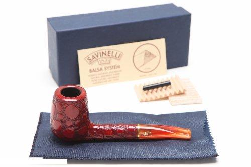 Savinelli Alligator Red 707R Tobacco Pipe