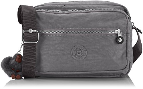 Kipling Womens Deena Cross-Body Bag Cool Grey