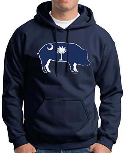 South Carolina Bbq Barbeque Capital Premium Hoodie Sweatshirt Large Navy