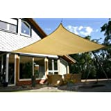 Idirectmart Square Sun Shade Sail 16 Feet 5 Inches - Sand Color
