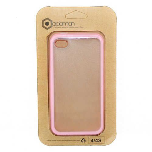 Baby Pink Tpu Frosted Clear Plastic Back Candy Bar Cover Case For Apple Iphone 4 4S