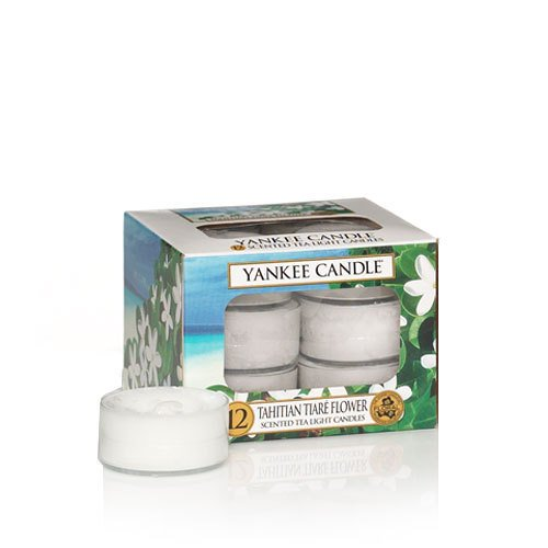 Tahitian Tiare Flower Tea Light Candles - Yankee Candle