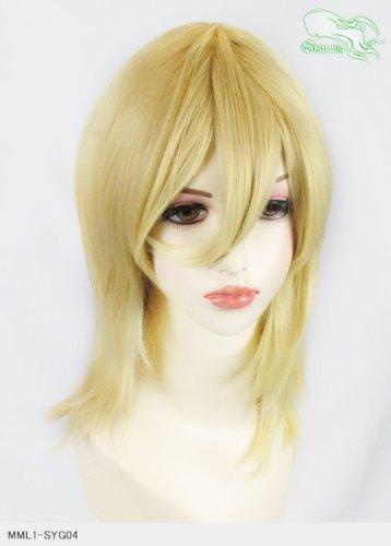 スキップウィッグ 魅せる シャープ 小顔に特化したコスプレアレンジウィッグ フェザーミディ バナナミルク