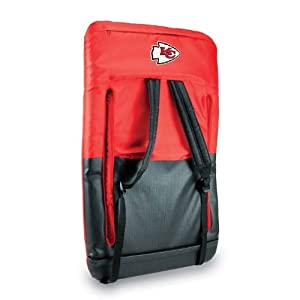 Nfl Kansas City Chiefs Portable Ventura Reclining Seat Red by Picnic Time