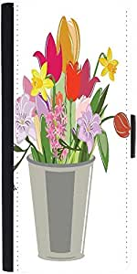 Snoogg Abstract Spring Illustration With Lots Of Flowers Designer Protective Phone Flip Case Cover For Htc Desire 820G Plus