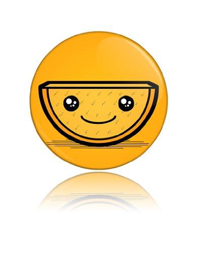 Cute Orange Slice Funny Art Button Badge Cool Retro Gift Present Baby Shower Birthday front-908138