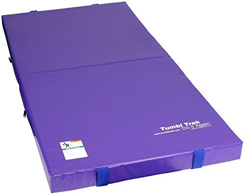 Tumbl Trak Junior Practice Mat, Purple, 3-Feet Width x 6-Feet Length x 4-Inch Height (Tumbl Trak Bar compare prices)