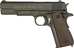 Tanfoglio Witness 1911 Full Metal C02 Blowback Air Pistol, Black/Brown, 4.5mm (358003)