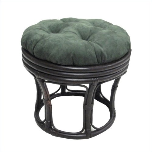 "Blazing Needles 18"" Footstool Micro Suede Cushion - Spice front-917454"
