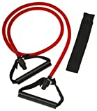 SPRI ES501R Xertube Resistance Band with Door Attachment and Exercise Charts (Red, Medium)