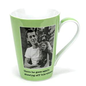 There He Goes Again, Showing Off His Weiner - 14-oz Humorous Coffee Mug