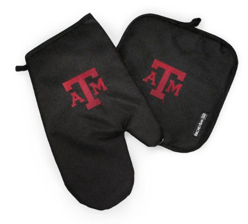 Texas A&M Mitt Potholder Set Aggies Logo Kitchen Tailgating Or Barbecue Pot Holder College Ncaa Licensed