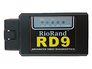 RioRand RD9 Android compatible bluetooth OBDII OBD2 Diagnostic Scanner