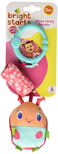Bright Starts Pretty in Pink Stroller Toys, Chime Along Friends, Styles Will Vary Assortment of 3, Each sold separately - 1