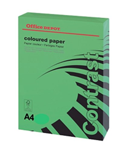 office-depot-a4-intense-green-coloured-card-160gsm-250-sheets-1-reams