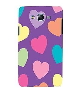 printtech Love Heart Cute Pattern Back Case Cover for Samsung Galaxy J5 / Samsung Galaxy J5 J500F
