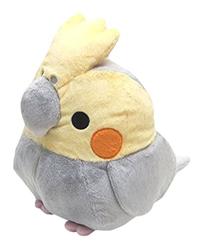 soft-and-downy-large-bird-stuffed-toy-munyu-mamu-series-cockatiel-grey-xl-size-30cm