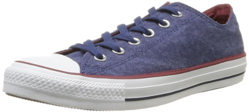 CONVERSE Unisex-Adult Chuck Taylor All Star Washed Ox Trainers 358710-61-5 Blue 11 UK, 45 EU