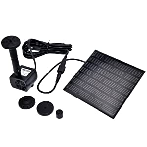 Solar Panel Power Submersible Fountain Pond Water Pump