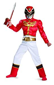 Disguise Power Ranger Megaforce Red Ranger Boy's Muscle Costume, 4-6