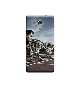 Ebby Premium Printed Back Case Cover With Full protection For Sony Xperia SP (Designer Case)